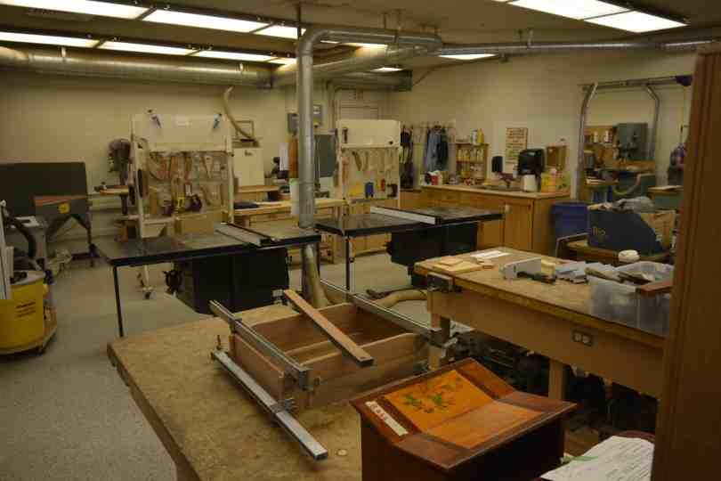 Gateway Wood shop Inside